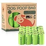 ATHA Kotbeutel für Hundekot, 240 Beutel, extra dick, stark, 100 % auslaufsicher, biologisch abbaubar