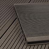 HORI® WPC-Terrassendiele Grau XXL Hohlkammer Diele I Komplettset inkl. 40x60 mm Unterkonstruktion & Clips I Fläche: 30 m² I 4,00 m Dielenlänge