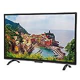 Annadue 43-Zoll-Smart-TV, Großer Gebogener Bildschirm 3000R Curvature Smart 4K HDR HD-TV-Netzwerkversion 1920x1200 Quad-Core mit TV-Halterung/TV-Basishalterung(EU)