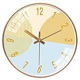 Kreative modische stumme runde Uhr Taschenuhr Wohnzimmer moderne Farbe Einführung einfache Atmosphäre Zuhause Quarzuhr (Farbe: 033 Rotgold, Blattgröße: 30,5 cm)