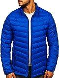 BOLF Herren Winterjacke Übergangsjacke Steppjacke Daunenjacke Sportjacke Stehkragen Reißverschluss Street Style J.Style SM70 Blau XXL [4D4]