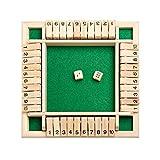 Shut The Box Würfelspiel (2-4 Spieler) Für Clevere Kinder & Erwachsene Lernspielzeug - Würfelspiel Aus Holz Zum Erlern Von Nummern & Strateg