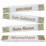 Zollstock personalisiert mit Name oder Wunschtext   Laser Gravur   hochwertige Verarbeitung mit Messingbeschlägen   Metermaß   Meterstab   Geschenkidee für Kollegen, Freunde, Familie   Preis am Stiel®