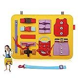 Pineocus Busy Board Spielzeug, Motorik Lernspielzeug ,Activity Board für Kinder Fertigkeiten und Selbst Anziehen, Beste Motorikspielzeug für Jungen und Mädchen 1 2 3 4 Jahre