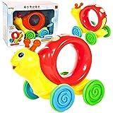 MalPlay Nachziehspielzeug | Nachzieh-Schnecke | Mehrzweck-Lernspielzeug Formerkennung und Konzentration| mit Bewegung | für Kinder Kleinkind Geburtstagsgeschenk