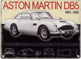 OPO-T Aston Martin DB5 Metall Advertising Zeichen (Large 400mm X 300mm)