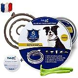 Thilife - Floh- und Zeckenhalsband für Hunde über 8 kg   8 Monate Langzeitschutz   2 kostenlose Clips zur Zeckenentfernung   formuliert mit ätherischem Zitronengrasöl  100% wasserdicht