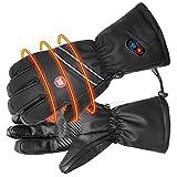 BIAL Beheizbare Handschuhe für Herren Herren Berhitzte Handschuhe Handwärmer mit 7.4V 2400mAh Wiederaufladbarem Akku, Stromanzeige für Motorradfahren Skifahren Angeln Camping M L XL