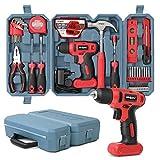 Hi-Spec 57-teiliges Heimwerkerset & 8V Bohrschrauber für Holz und Kunststoffe. Allzweck-Handwerkzeuge für Haushalt & Büro DIY Reparatur & Wartung. Aufbewahrt in einem kompakten Tragekoffer