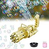 Gatling Bubble Machine 2021 Cooles Spielzeug Geschenk Acht Loch Automatische Bubble Maker Kinder Bubble Gun Outdoor-Spielzeug für Jungen und Mädchen