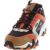 Fila Men's Oakmont Tr Mid Black/Red Orange Silver Birch Mid-Top Leather Trail Running - 9M