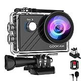 GOOKAM Go 3 Action Cam 4K WiFi Actionkamera 20MP Unterwasserkamera Wasserdicht 40M EIS Sportkamera mit Externem Mikrofon 2.4G Fernbedienung Ultra HD Helmkamera 170°Weitwinkel mit 2x1200mAh Batterien