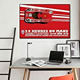 RZHSS 24 Stunden Von Le Mans 1971 1970 Auf Leinwand Drucken Poster Automobil Wandkunst Bild Für Living Noom Home Decoration 60X80Cm 24X32 Zoll No Frame