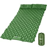 Isomatte Outdoor,Relefree Upgraded Inflatable Camping Mat with Built-in Pump,Durable Waterproof Air Mattress Compact for Tent,Travel, Backpacking,Armeegrün