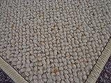 Internethandel Pfordt Berber Kettel Teppich Natur 100% Schurwolle 300 x 200 cm