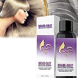 Brass-Corrector Violet Shampoo 100ML, Lila Shampoo und Conditioner, Entfernt messingfarbene Gelbtöne, Silbershampoo Behält Silber/Asche-Look bei, um Blond zu revitalisieren (1 STÜCKE)