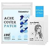 Pickel Pflaster 180 counts, Akne Patches - Unsichtbare Hydrokolloide Absorbierendes, Spot and Skin Tag treatment, Hautbehandlung, Gesichtsaufkleber, Wasserdicht, Fast & Effective