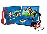 Ematic NPW7221PW Nickelodeons Paw Patrol Tragbarer DVD-Player mit 9 Zoll drehbarem Bildschirm, Reisetasche und Kopfhörer, Blau