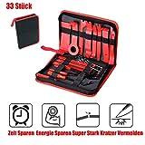 Queta 33 Stück Auto Demontage Werkzeuge und KFZ Kabel Stecker Ausbau Werkzeug Zierleistenkeile Verkleidungs Reparatur Werkzeuge