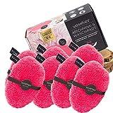 waschies® Faceline waschbare Abschminkpads pink/weiss 7er Set | Feinster Fasermix aus Mikrofaser und Viskose, porentiefe und hautschonende Reinigung | Umweltfreundlich und nachhaltig nur mit Wasser