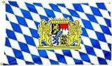 Flagge Fahne Bayern mit Wappen und Löwen 60x90
