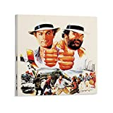 Terence Hill Bud Spencer Movie Canvas Art Poster and Wall Art Picture Print Modern Family Bedroom Decor Poster 70 x 70