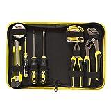 WMC TOOLS Werkzeugset klein 9 teilig Mini Werkzeug Tasche Werkzeugsatz in Mappe Universal und Haushalts-Werkzeugkoffer Schraubendreher Zangen
