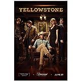KONGQTE Yellowstone Staffel 1 (2018) Darsteller Kevin Costner TV-Show Poster Leinwanddruck Gemälde Wandkunst für Wohnzimmer Schlafzimmer Dekor-50x75cm ohne Rahmen