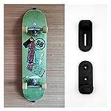 GEOLEVEL Skateboard Wandhalterung (verstellbar) – Backside sichtbar - Professioneller 3D-Druck – Halterung zur Befestigung & Aufhängen für Skate Board an der Wand – Befestigung vertikal (1 Pack)