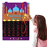 1 Stück Filz Ramadan 30 Tage Kalender Ramadan Festival hängendes Dekor Frommes Geschenk Eid Ramadan Mubarak Ornamente