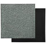 vidaXL 20x Teppichfliesen Selbstliegend Bodenbelag Teppichboden Teppich Fliese Fliesen Schutzmatten Matten Teppichplatten 5m² 50x50cm Grü