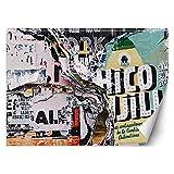 Feeby Fototapete Aus Papier XXL Wand Typografie 254x184 cm mehrfarbig Moderne Design Wandtapete Küche Flur Wohnzimmer Büro Badezimmer Kinderzimmer Die Stadt Plakate Grunge
