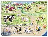 Ravensburger Kinderpuzzle 03689 - Morgens auf dem Bauernhof - 10 Teile Holzpuzzle
