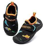 GUBARUN Hausschuhe Mesh Running Sneakers Jungen Mädchen Baby(Schwarz orange 1, 29 EU)