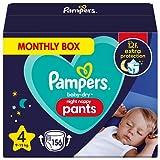 Pampers Baby-Dry Night Windelhöschen, Größe 4, 156 Windeln, 9-15 kg, Pampers Night Pants bieten zusätzlichen Schutz die ganze Nacht