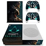 Xbox One S Assassin's Creed Valhalla Console Skin, Decal, Vinyl, Sticker, Faceplate - Console and 2 Controllers - Protective Cover XBOX ONE S