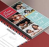 Personalisierte Postkarte Set mit Foto & Spruch Einladungskarte zum Selbst Gesalten Wasserdicht A6 Bedrucken Wasserdicht Bild Hochzeit Liebe Geburtstag Kinder Danke Freundschaft Valentinstag