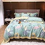 WAlAH Bettdeckenbezug,60 Leedalan-Essenz, Vier Sätze von Frühling, Sommer Bettwäsche, leichteste, hochwertige Bettwäsche-Sommer-_König