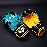 HOUJIA Boxhandschuhe,Boxhandschuhe Gloves Muay Thai und Training,Hide Leder Punching Handschuhe für Kampfsport,Kick Boxen,Sparring,Boxsack,MMA,Sandsack Boxing Gloves,Kickboxhandschuhe