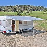 Reimo Tent Technology Sonnensegel Sonnenvordach Markise Sonnensegel 200-900 x 240 cm Wohnwagen Wohnmobil Verschiedene Größen (250 x 240 cm)