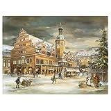 Weihnachtspostkarte Leipzig Rathaus