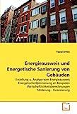 Energieausweis und Energetische Sanierung von Gebäuden: Erstellung u. Analyse vom Energieausweis Energetische Optimierung an Beispielen Wirtschaftlichkeitsberechnungen Förderung - Finanzierung