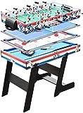 N/Z Tägliche Ausrüstung Multi Game Tisch 4 in 1 Combo Spieltisch mit Tischfußball Billard Tischplatte Fußball Billard Tischspiel für Family Night Home Party