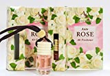White Rose Auto 2 Stück, Universal fesselnder Mehrzweck-Heimbüro, Boot, Wohnwagen, Zuhause, Kleiderschrank, Fitnessraum, Spind, Lufterfrischer, Rosenöl und weiße Blumen