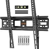 ELIVED TV Wandhalterung Neigbar Fernseher Wandhalterung für die meisten 26-55 Zoll Flach & Curved LED, LCD, OLED, Plasma TVs bis zu 40kg mit Max VESA 400x400mm, Neigbare TV Halterung EV025