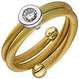 Kabel-Ring Damenring mit Diamant Brillant 0,15 Ct. W/SI 750 Gold gelb/weiß matt, Ringgröße:Innenumfang 56mm ~ Ø17.8mm