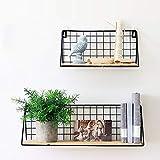 unho Wandregal Metall,2er Set Schweberegal Dekorative Regale für Wohnzimmer Schlafzimmer Küche und Flur,Wandmontage,pro Regal bis 15 kg belastbar