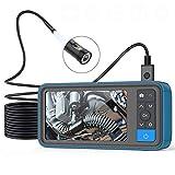 Yangyang Endoskop HD Endoskopkamera,4,5-Zoll-LCD-Bildschirm 6 LED-Leuchten IP67 wasserdichte Endoskop,HD Einstellbaren LED-Licht Inspektionskamera, Halbstarres Kabel
