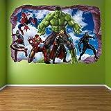 AUUUA Wandtattoos Super Hero Wandaufkleber Wandtattoo Hulk Spiderman Iron Man