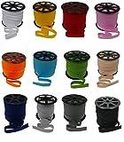 zipworld 10 Meter Baumwolle - Schrägband Einfassband Nahtband gefalzt 18mm Breit (schwarz - 322)